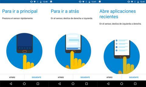 Así funcionan los gestos del lector de huellas en Motorola que vienen por defecto