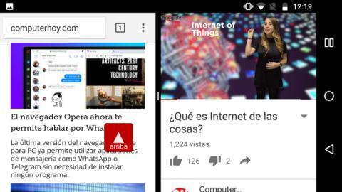 El Moto G5 es capaz de reproducir un vídeo mientras navegamos por Chrome
