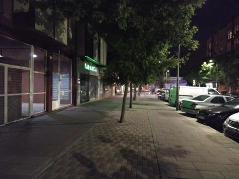 Fotografía tomada de noche con la cámara del Moto G5