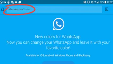 Cambiar WhatsApp al color azul.