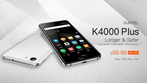 Reserva ya la nueva generación de Oukitel K4000 Plus para este 2017