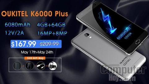 Promoción exclusiva para el Oukitel K6000 Plus de OCBM