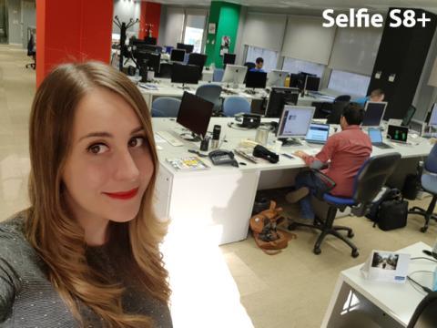 Foto selfie con el S8+