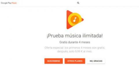 google play music oferta
