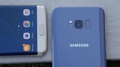 La posición del lector de huellas es la principal diferencia entre el Samsung Galaxy S8 Plus y el S7 Edge