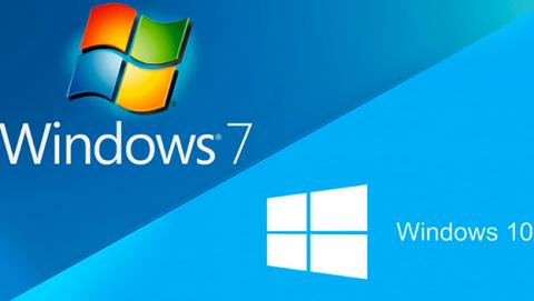 Windows 7 crece más rápido que Windows 10