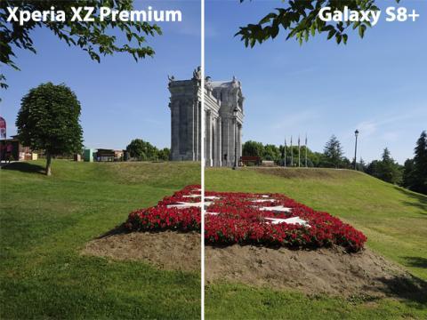 Foto tomada con el Xperia frente a foto tomada con el Samsung Galaxy S8 Plus