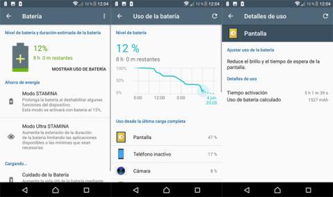 Batería del Sony Xperia XZ Premium
