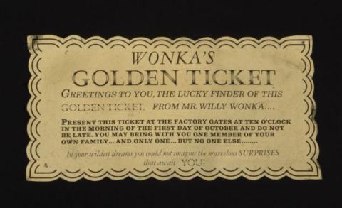 billete dorado willy wonka