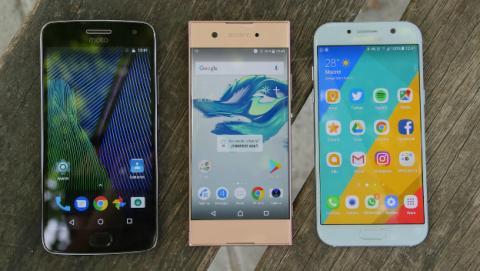 Comparativa entre tres de los mejores móviles de gama media.