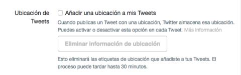 Ubicación tuits