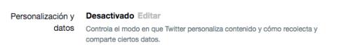 Privacidad Twiter