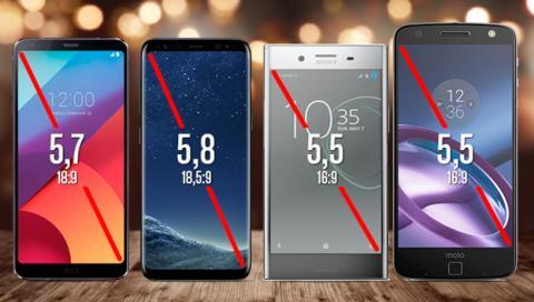 Comparativa de pantallas de los principales móviles