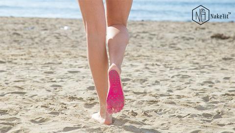 quemar pies arena playa
