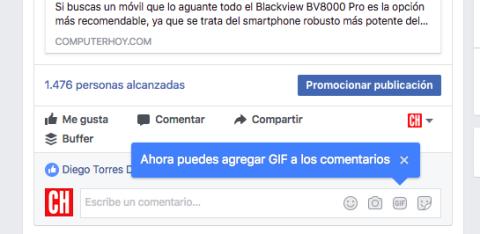 gif en comentarios de facebook