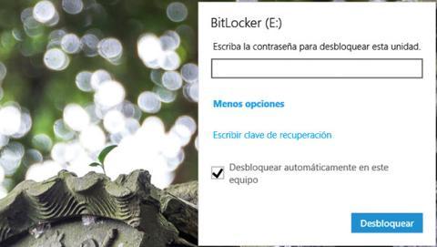 Unidad USB está cifrada con BitLocker