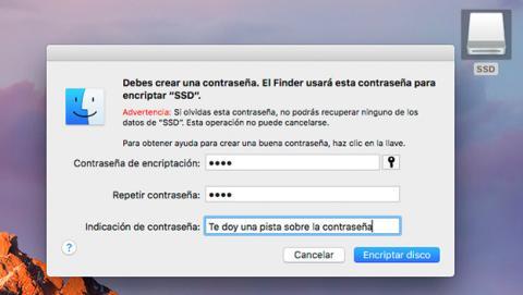 Cifrar tu disco duro externo en macOS