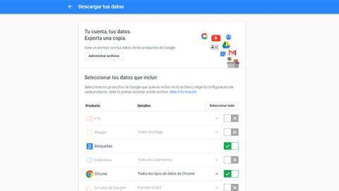 Control sobre tu historial de búsquedas y navegación en Google