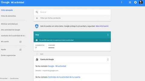 Elimina parte de tu historial de búsqueda de Google