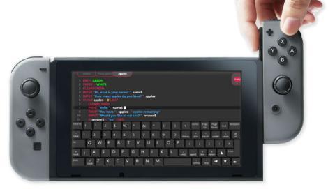 Aprender lenguaje de programación BASIC con Switch.