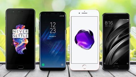 Comparativa: OnePlus 5 vs Samsung Galaxy S8+ vs iPhone 7 Plus vs Xiaomi Mi 6