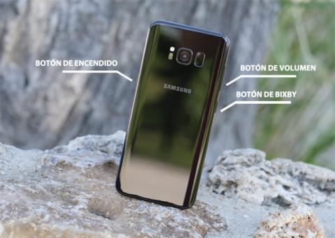 Los botones físicos que tiene el Galaxy S8 de Samsung