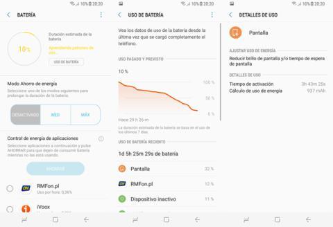 La autonomía que consigue el Samsung Galaxy S8