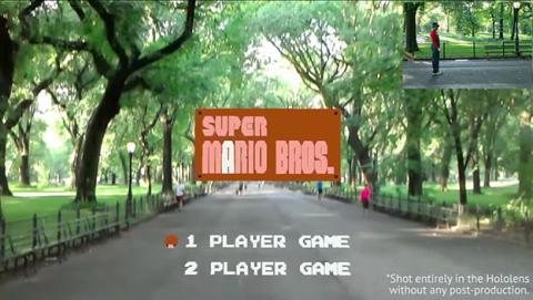 Recrean el primer nivel de Super Mario Bros con las Hololens