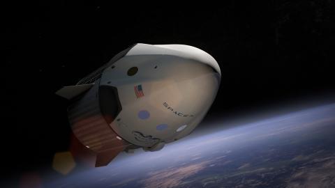 Cohete de SpaceX en el espacio