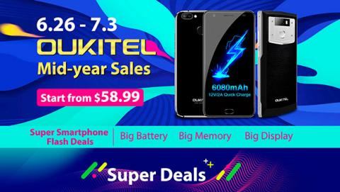 oukitel mid-year sale