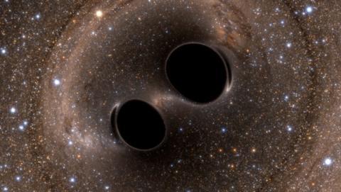 Descubren dos agujeros negros supermasivos orbitando entre sí