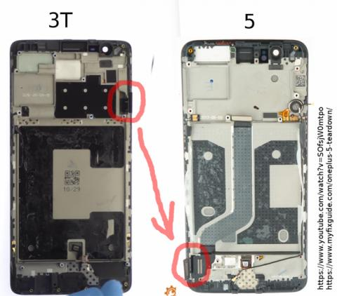 La pantalla del OnePlus 5 está al revés que en el 3T