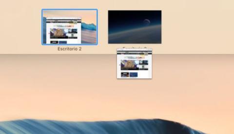 Pasar ventana a otro escritorio en Mac