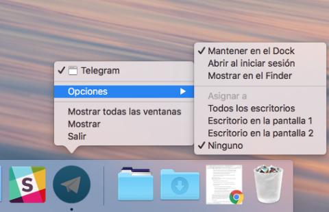 Asignar aplicaciones a escritorios de Mac