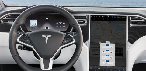 El interior del Model X