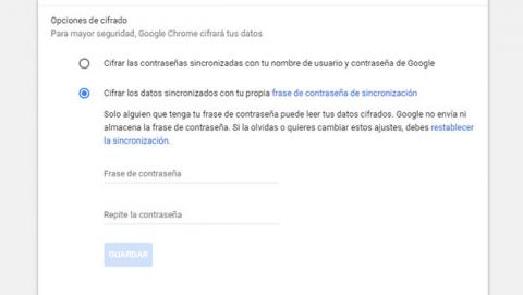 Cifra los datos que sincronices con Google