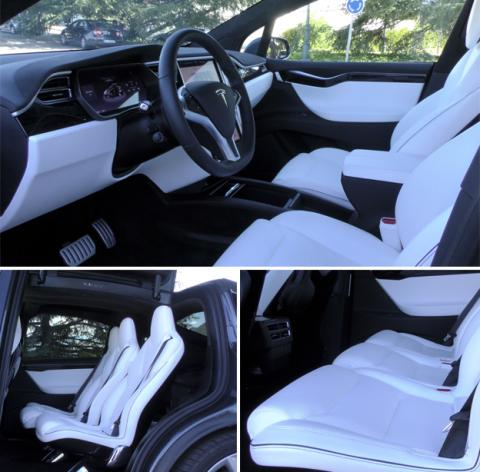 El interior del Tesla Model X
