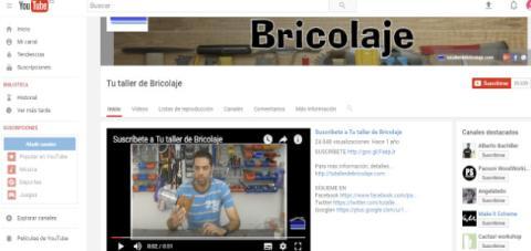 Canal de Youtube dedicado al bricolaje