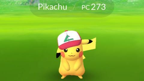 Pikachu del aniversario de Pokémon GO disponible.