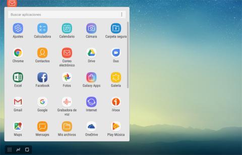 Algunas de las aplicaciones que se pueden ejecutar desde el S8 que hemos conectado a Samsung DeX