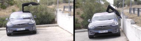 Las puertas de alas de gaviota del Model X