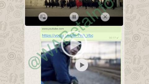 WhatsApp permitirá ver los vídeos de YouTube desde la aplicación