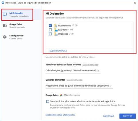Cómo hacer un backup de tu PC en la nube con Google Backup and Sync