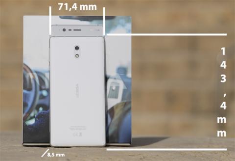 Las dimensiones del Nokia 3