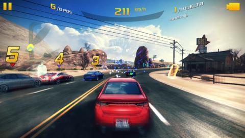 El juego Asphalt 8 en el Nokia 3
