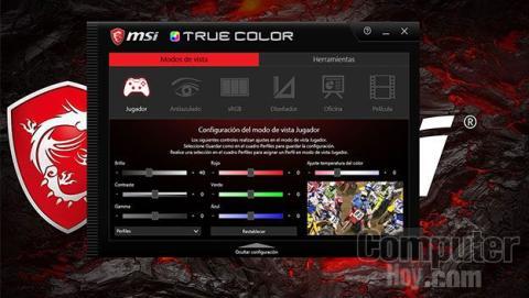 True Color en MSI GS43VR 7RE Phantom Pro