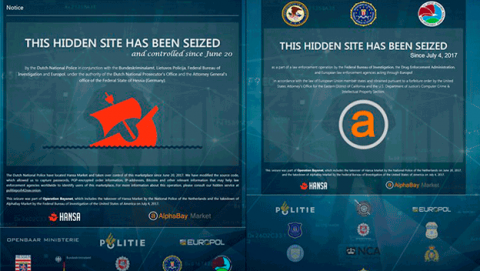 El FIB y la Europol cierran AlphaBay y Hans