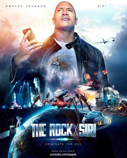 Siri se convierte en actriz protagonista de la película The Rock x Siri
