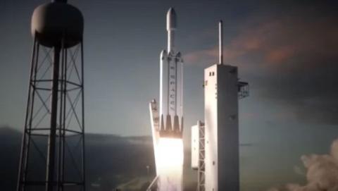 """El cohete pesado """"Falcon Heavy"""" de SpaceX tiene programado su lanzamiento para noviembre"""