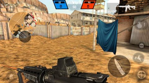 El juego Bullet Force ejecutándose en el Moto E4